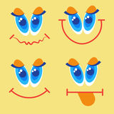 Smiling Face First April Fool Day Happy Holiday Greeting Card. Flat Vector Illustration Royalty Free Stock Image