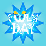 Smiling Face First April Fool Day Happy Holiday Greeting Card. Flat Vector Illustration Stock Image
