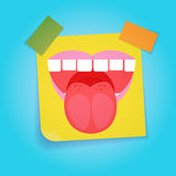 Smiling Face First April Fool Day Happy Holiday Greeting Card. Flat Vector Illustration Stock Photography