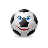 Smiling face on football Royalty Free Stock Photos