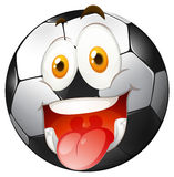 Smiling face on football Stock Photos