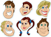 Smiling Face Fridge Magnet/Stickers #2 Stock Image