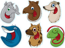 Free Smiling Face Fridge Magnet/Stickers 7 (Animals) Royalty Free Stock Photo - 5387835