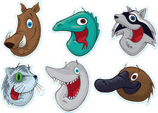 Smiling Face Fridge Magnet/Stickers  (Animals) #2 Stock Image