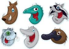 Free Smiling Face Fridge Magnet/Stickers (Animals) 2 Stock Image - 5387841