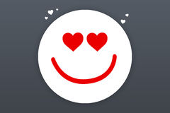 Smiling Face Icon Royalty Free Stock Photo