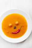 Smiling face made ​​of vegetables Stock Photo