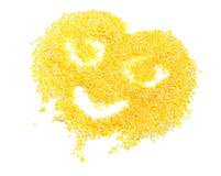Smiling Face Made of Corn Flakes Royalty Free Stock Photo