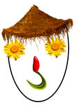 Smiling face made with flowers Royalty Free Stock Photos
