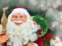 Smiling face of a New Year`s Santa Claus Royalty Free Stock Photo