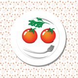 Smiling face on plate Royalty Free Stock Photo