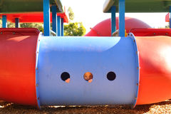 Smiling face in playground Stock Photography