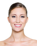 SMiling face of a pretty woman Stock Image