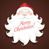 A smiling face of the Santa Claus wishes Marry Christmas and Hap Stock Photo