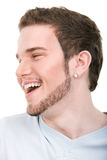 Smiling face of young man Stock Image