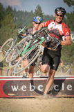 Smiling Faces in Cyclocross Race Royalty Free Stock Photos