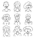 Smiling faces of girls Royalty Free Stock Photography