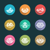 Smiling faces icons Royalty Free Stock Images