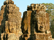 Smiling Faces Of Bayon Royalty Free Stock Photos