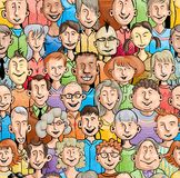 Smiling faces. Seamless pattern Royalty Free Stock Image