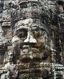 Smiling faces in the Temple of Bayon. Cambodia stock photo