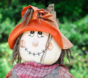 Smiling fall scarecrow face Stock Photos
