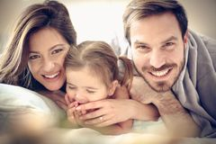 Portrait of young family. stock photography
