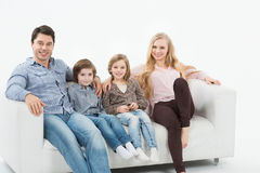 Smiling family with children Stock Photo