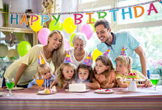 Smiling family Royalty Free Stock Photo