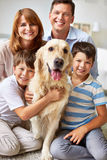 Smiling family stock photos