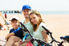 Smiling family having rest Stock Photos