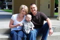 Smiling Family - horizontal Royalty Free Stock Photography