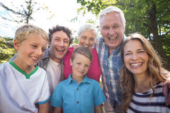 Smiling family looking at camera Royalty Free Stock Image
