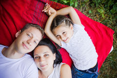 Smiling family Royalty Free Stock Photos