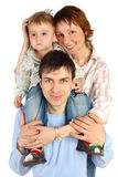 Smiling Family - Mother, Father And Child Stock Photos