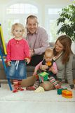 Smiling family portrait Stock Photos