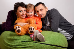 Smiling family portrait close up royalty free stock images