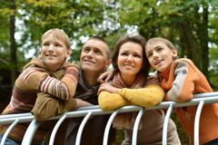Smiling family relaxing Stock Image