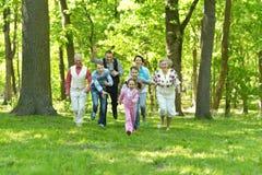 Smiling family run Royalty Free Stock Image