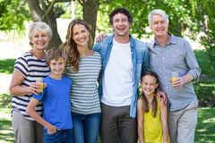 Smiling family standing Royalty Free Stock Photography