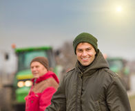 Smiling farmer Royalty Free Stock Images