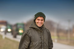 Smiling farmer Stock Photography