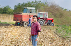 Smiling farmer Stock Image