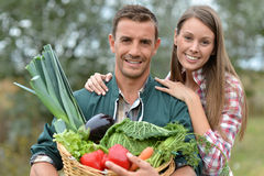 Smiling farmers Royalty Free Stock Photography