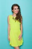Smiling fashion model posing Stock Images