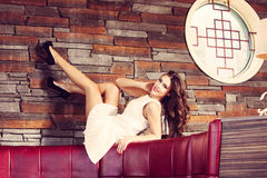 Smiling fashion woman Stock Photography