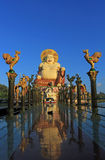 Smiling fat Buddha of wealth statue on Koh Samui, Stock Images