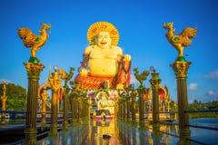 Smiling fat Buddha of wealth statue on Koh Samui, Royalty Free Stock Image