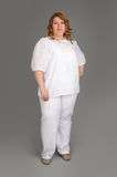 Smiling fat woman Royalty Free Stock Images