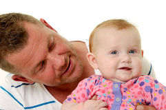 Smiling Father And Baby Royalty Free Stock Photos